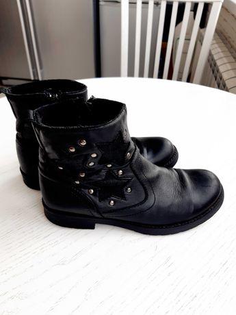 Осінні чобітки /шкіряні сапожки для дівчинки 33р.
