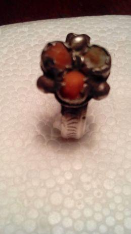 Кольцо серебрянное с кораллами XVII-XVIIIст Украинское