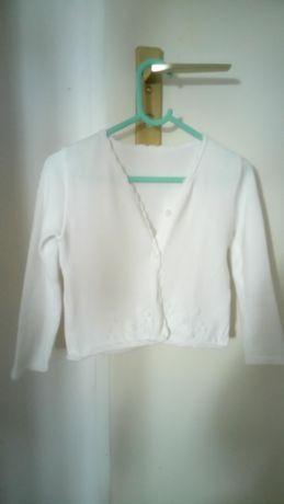sweterek, biały, praktyczny, 110 - 116