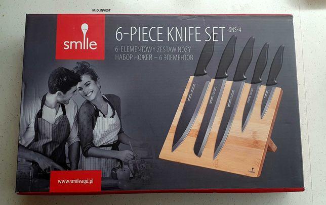 Smile Noże na bambusowym bloku magn. 6-el zestaw noży