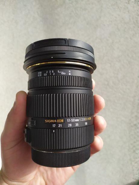 Sigma 17-50mm f/2.8 DC EX HSM Canon EF-S + szkło ochronne HOYA