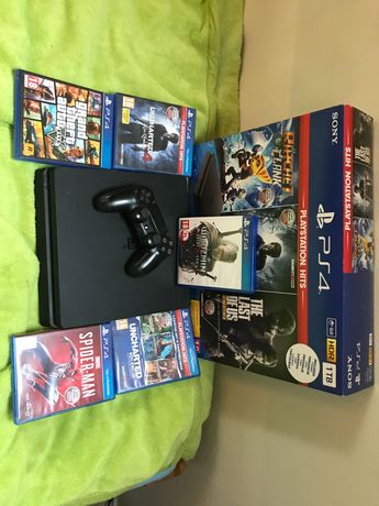 PlayStation4  1TB + 5 Gier ! Polecam