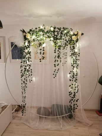 Okrąg ozdoba na ślub do zdjęć