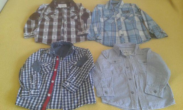 koszule długi rękaw 3-4 lata