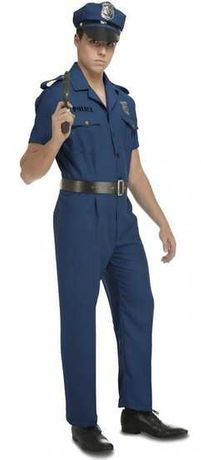 Strój Mundur Policjanta Kostium Policjant S