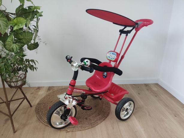Rowerek trójkołowy czerwony chłopięcy dziewczęcy