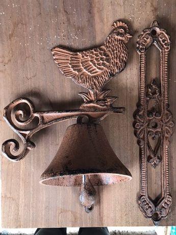 Ręczny dzwonek Kogut żeliwny żeliwo