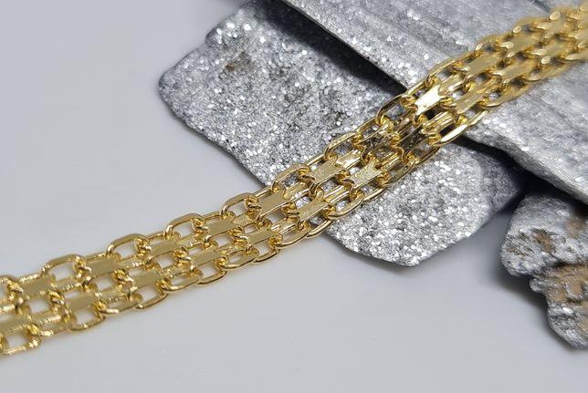 Złota OBŁĘDNA bransoletka BISMARCK pr.585 ostatnie sztuki!
