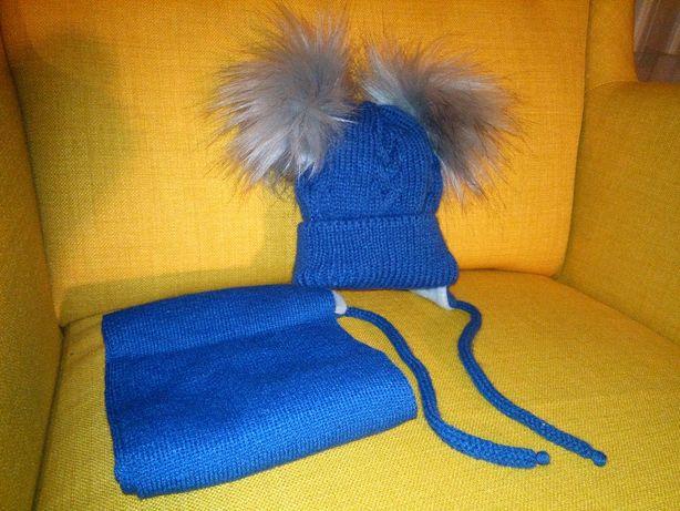 Czapka i szalik- komplet zimowy niemowlak