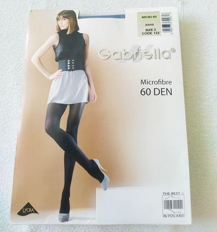 Rajstopy Gabriella 60 den, rozmiar 2, kolor jeans
