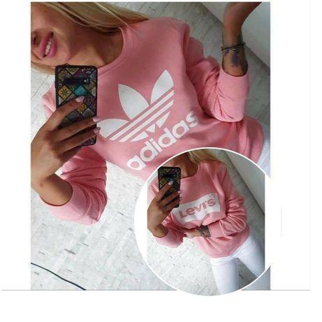 Bluzy damskie z logo Levis Adidas Kolory S-XL!!!