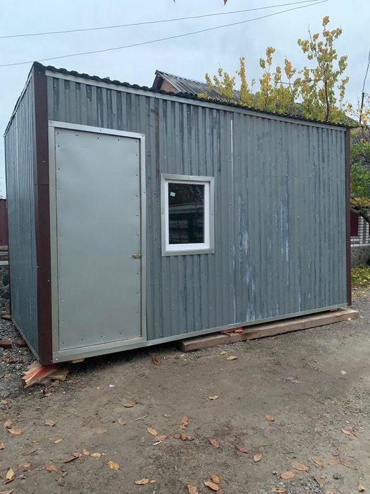 Бытовка 4,5 на 2.3 м. Утепленная 100мм. 4 кровати Для проживания Киев - изображение 1