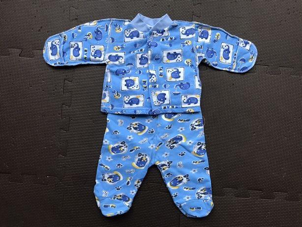 Теплый комплект (костюм) для новорожденного мальчика 50р