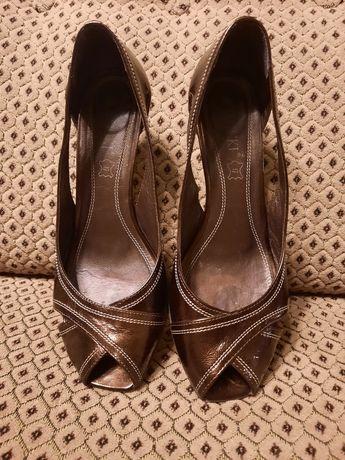 LASOCKI buty damskie skóra czulenka szpilka r.38 braz