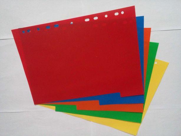 Разделители Herlitz 5 с листом описания, А4, 5шт., 5 цветов, пластик.
