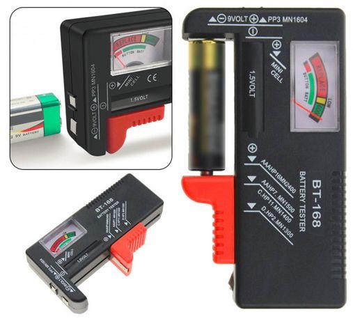 тестер заряда батареек с LCD BT-168D, (AA, AAA, Крона)