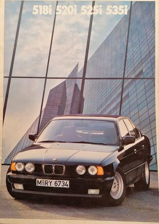 Prospekt BMW serii 5,E34