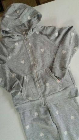 Bluza H&M Spodnie DRES dla dziewczynki rozmiar 134