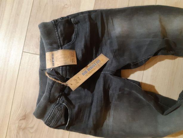 Spodnie chłopięce nowe w szarym modnym kolorze