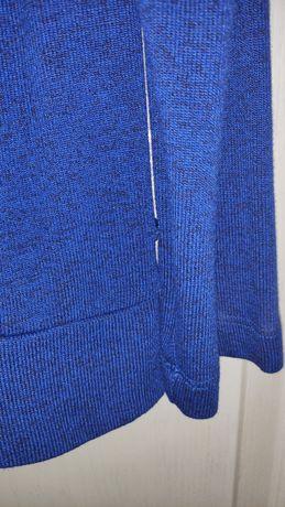 Женский кардиган, кофта, накидка. Насыщенный синий цвет