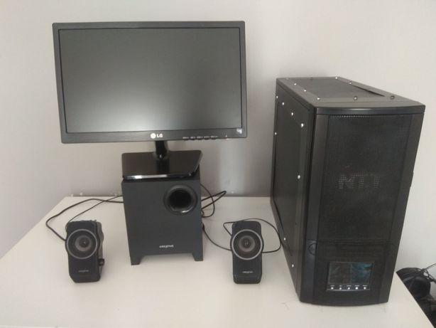 Komputer AMD 3,6 GHz Geforce GTS 450 1GB 4GB RAM DDR3 + MONITOR ZESTAW