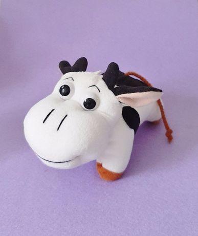 Игрушка мягкая белая симпатичная Коровка для детей, наКоляску, вМашину