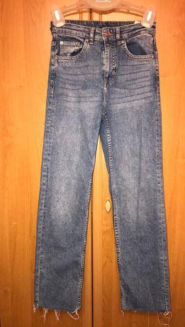 Jasne jeansy z szerszymi nogawkami H&M