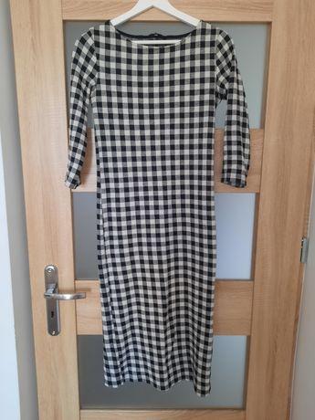 Elegancka sukienka Stradovarius 38 M czarno biała