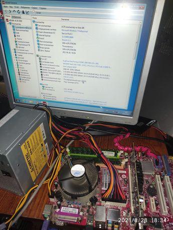 Продам материнскую плату с процессором. MSI P945 NEO5