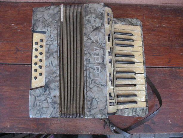 Stary oryginalny mały akordeon - CAPRI