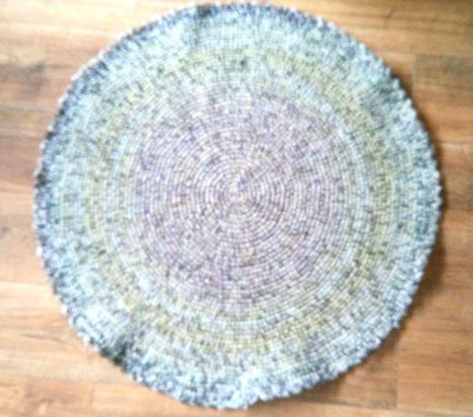 Dywan dywanik handmade okrągły 88cm