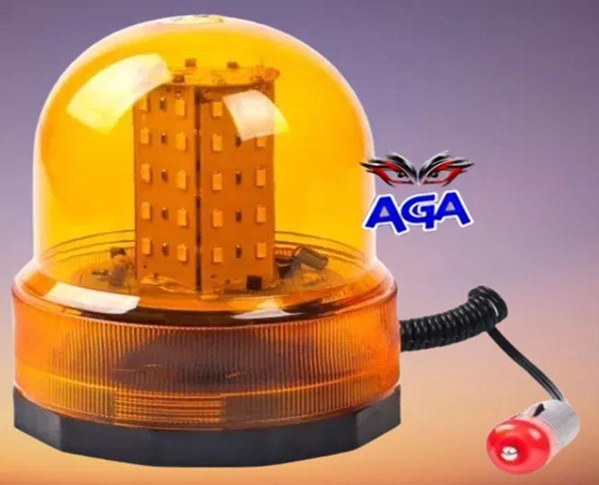 Lampa Ostrzegawcza Kogut 80 LED Magnes 12V