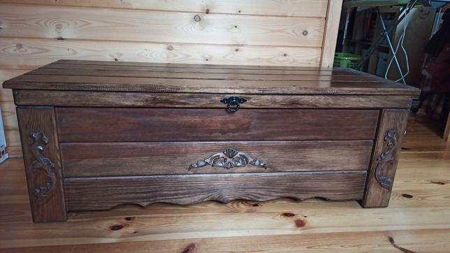 Kufer drewniany jak nowy
