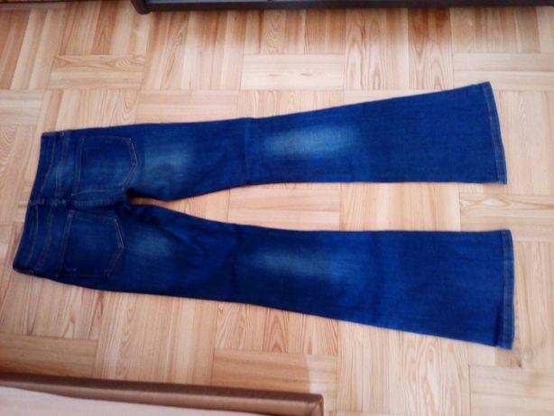 ZARA Spodnie Jeansowe Dzwony