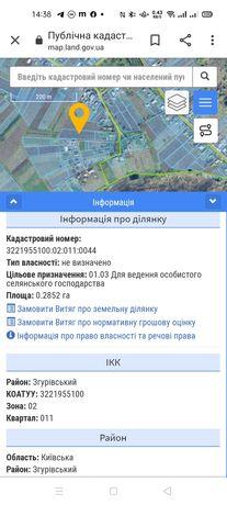 Земельна ділянка в смт. Згурівка 0.28 га