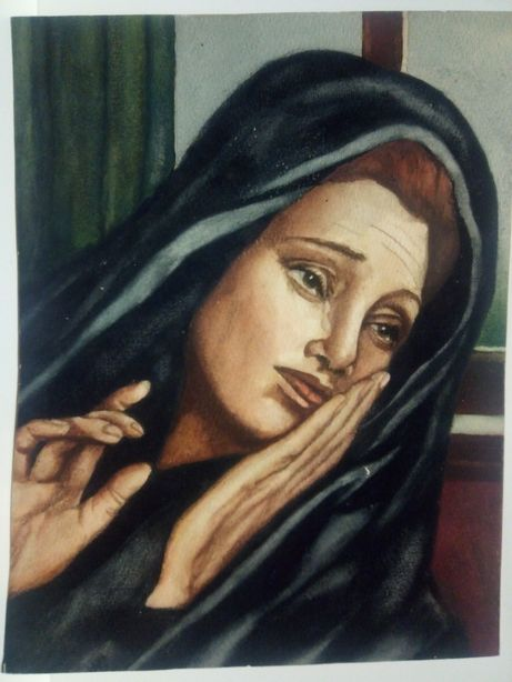 C. Pereira de Lima - antiga aquarela da Nossa Senhora das Dores