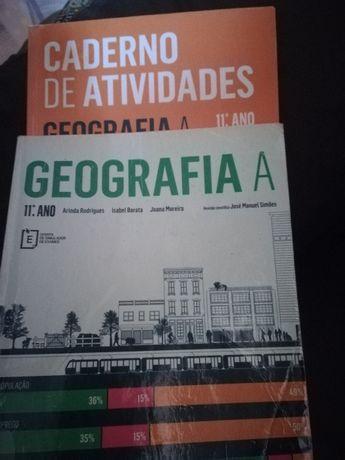 Livros escolares Geografia A, e Inglês 11°ano
