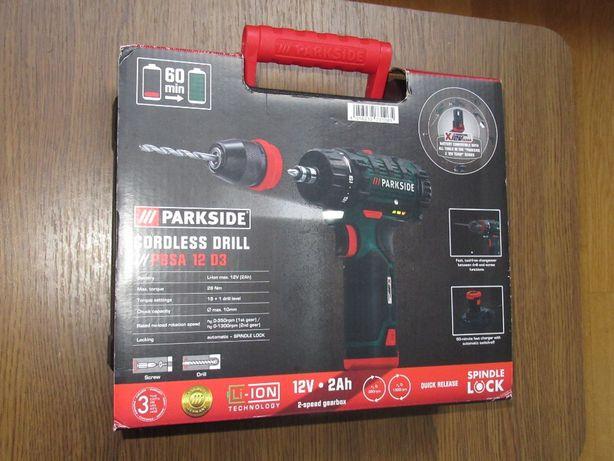 Новый шуруповерт аккумуляторный Parkside PBSA 12 D3 из Германии.