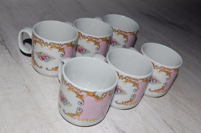 Porcelana Vintage la San Marco, filiżanki do kawy 6 sztuk