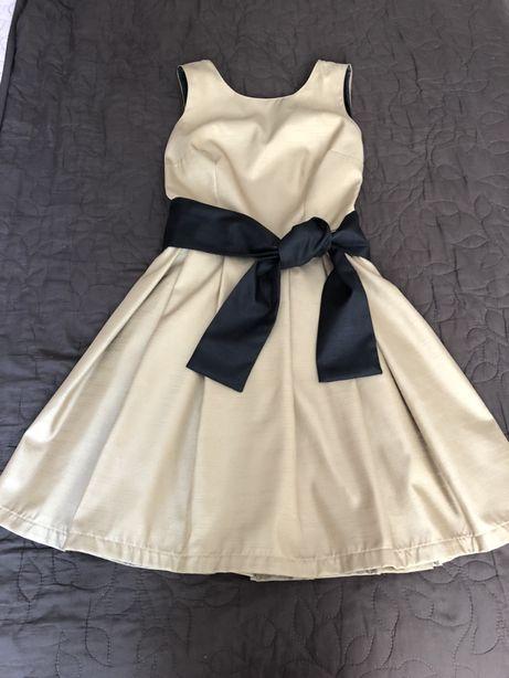 Нарядное платье с поясом