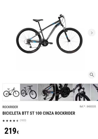 Bicicleta BTT ST 100 Rockrider Decathlon