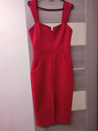 Платье красное 38 р