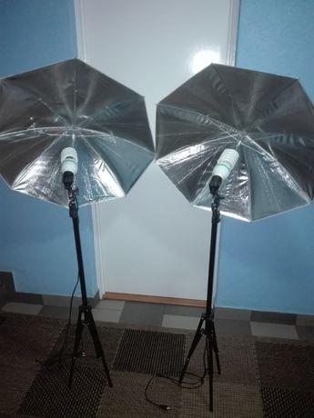 Lampa studyjna z parasolką 105w