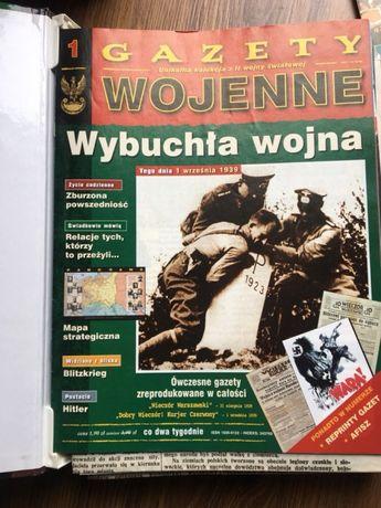 Gazety wojenne od nr 1 - 65 z reprodukcjami gazet.