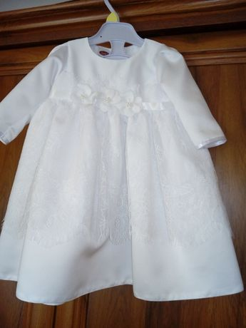OKAZJA Jesienno- zimowe ubranko do chrztu. Rozmiar 62.