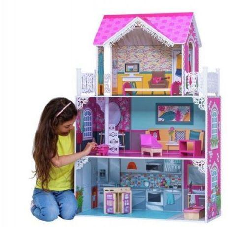 Domek dla lalek barbie MEGA akcesoria mebelki