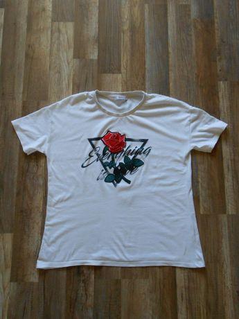 Bluzka koszulka PULL&BEAR Róża XL