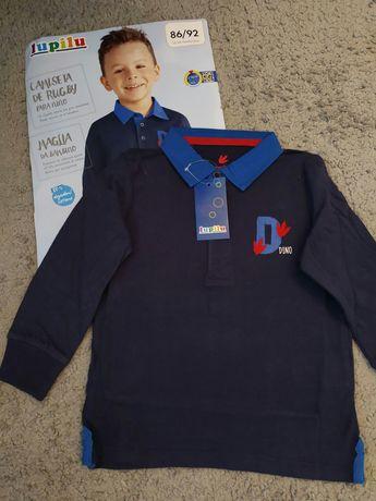 Новая рубашка-поло 86-92