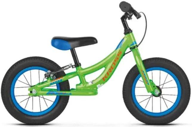 """Rower dziecięcy biegowy Kross Kido 12"""" zielony + trąbka"""