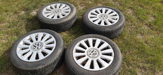 felgi aluminiowe VW TOURAN z oponami zimowymi Kleber 205/55/16
